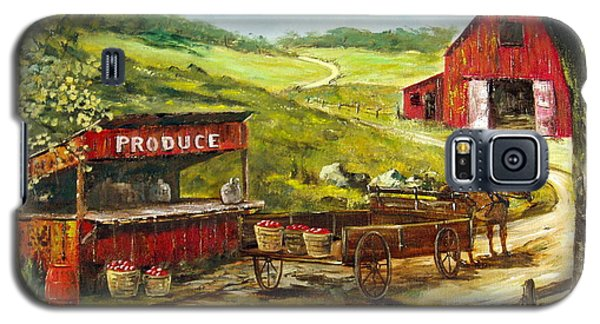 Galaxy S5 Case featuring the painting Produce Stand by Lee Piper