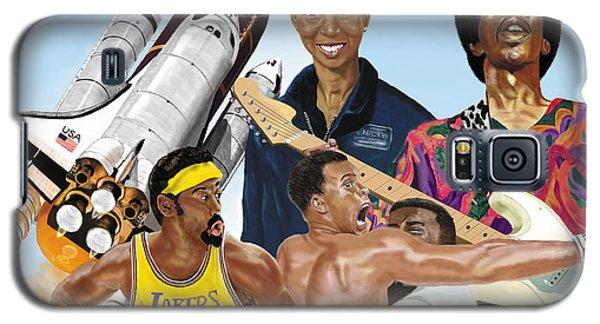 Jimi, Muhammad Ali, Wilt Chamberlain And Mae Carol Jemison Galaxy S5 Case