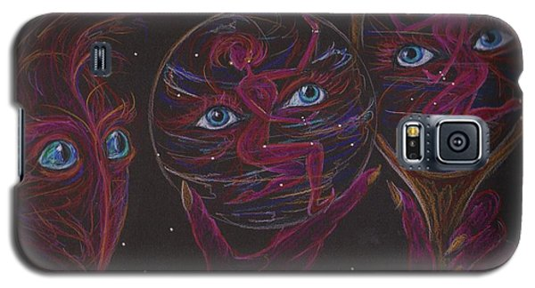 Galaxy S5 Case featuring the drawing Projection Reflection by Dawn Fairies