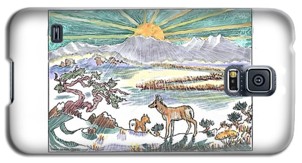 Pronghorn Winter Sunrise Galaxy S5 Case