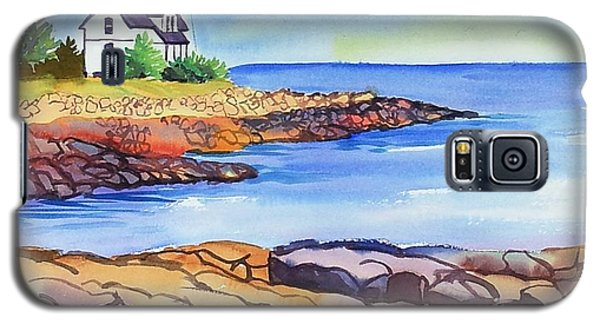 Prospect Harbor Lighthouse Me Galaxy S5 Case by Yolanda Koh