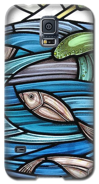 Protection Island Seascape Galaxy S5 Case by Gilroy Stained Glass