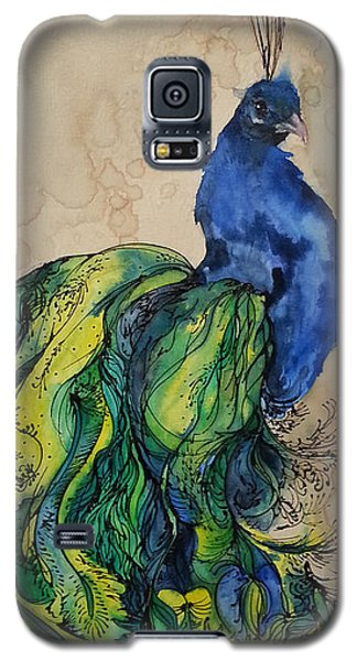 Proud Peacock Blue Galaxy S5 Case