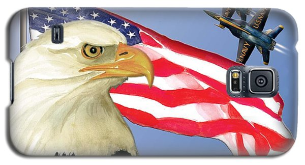Galaxy S5 Case featuring the painting Proud To Be An American by Anne Beverley-Stamps