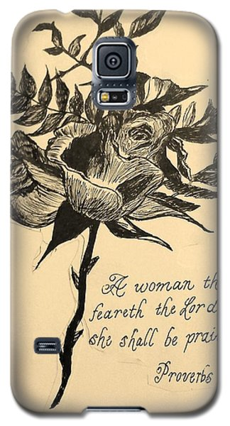 Proverbs Verse Galaxy S5 Case by Christy Saunders Church