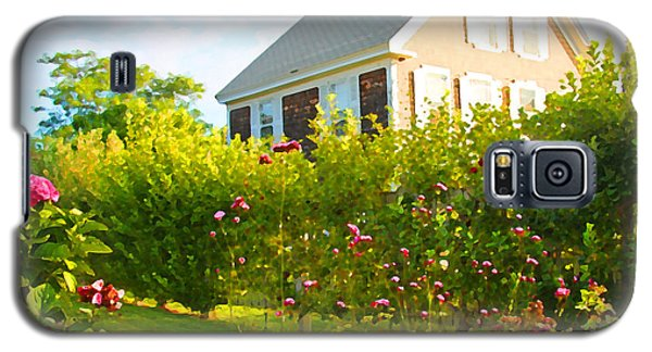 Provincetown Cottage With Green Brown And Pink Galaxy S5 Case by Brooke T Ryan