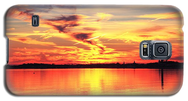 Galaxy S5 Case featuring the photograph Provincetown Harbor Sunset by Roupen  Baker