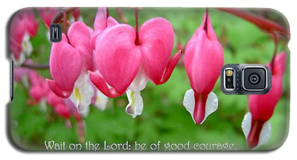 Psalms 27 14 Bleeding Hearts Galaxy S5 Case