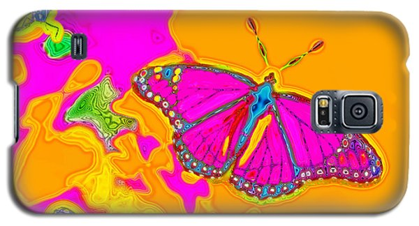 Psychedelic Butterflies Galaxy S5 Case