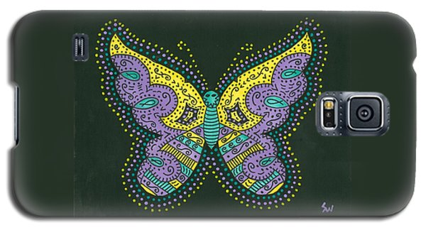 Psychedelic Butterfly Galaxy S5 Case