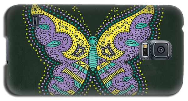 Galaxy S5 Case featuring the painting Psychedelic Butterfly by Susie Weber