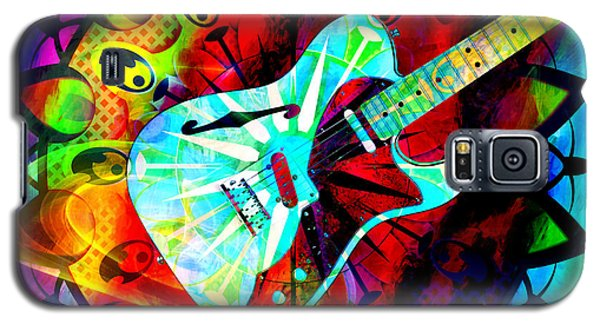 Psychedelic Guitar Galaxy S5 Case by Ally  White