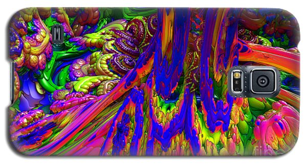 Galaxy S5 Case featuring the digital art Psychedelic Pastries by Arlene Sundby