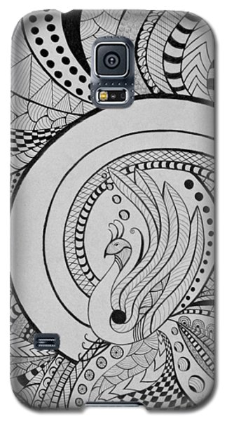 Psychedelic Peacock - Zentangle Drawing - Ai P.nilson Galaxy S5 Case