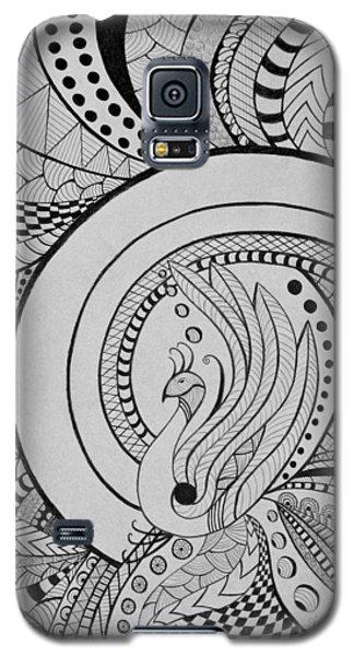 Zentangle Peacock Art Drawing Galaxy S5 Case
