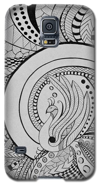 Psychedelic Peacock Galaxy S5 Case
