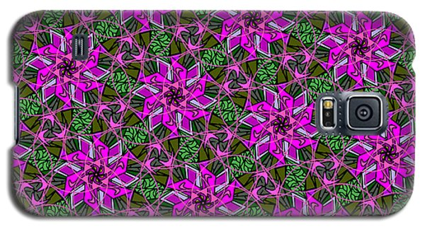 Galaxy S5 Case featuring the digital art Psychedelic Pink by Elizabeth McTaggart