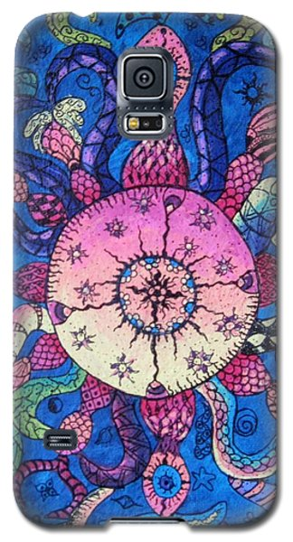 Psychedelic Squid Galaxy S5 Case by Megan Walsh