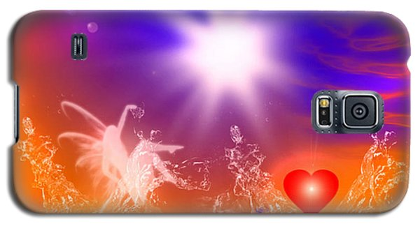 Galaxy S5 Case featuring the digital art Psychic by Ute Posegga-Rudel