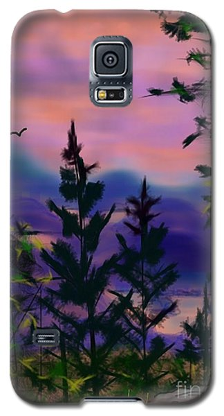 Galaxy S5 Case featuring the painting ptg.  Mount Baker View by Judy Via-Wolff