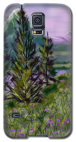 ptg.  Mountain Meadow Pond Galaxy S5 Case by Judy Via-Wolff