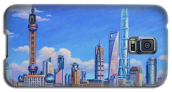 Pudong Skyline  Shanghai Galaxy S5 Case by John Clark