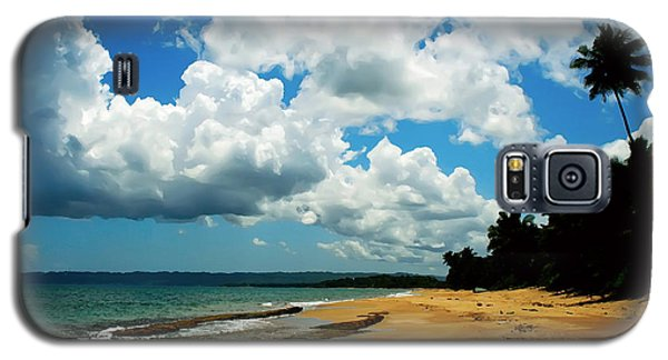 Galaxy S5 Case featuring the digital art Puerto Rican Beach by Kara  Stewart