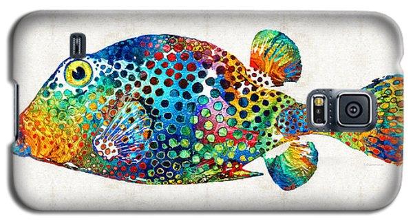 Puffer Fish Art - Puff Love - By Sharon Cummings Galaxy S5 Case