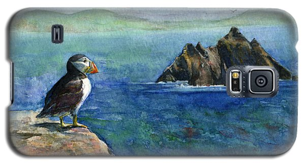 Puffin At Skellig Island Ireland Galaxy S5 Case