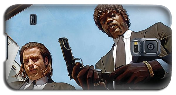 Galaxy S5 Case featuring the painting Pulp Fiction Artwork 1 by Sheraz A