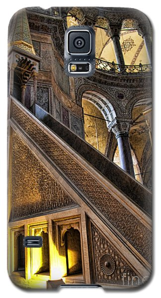 Pulpit In The Aya Sofia Museum In Istanbul  Galaxy S5 Case by David Smith