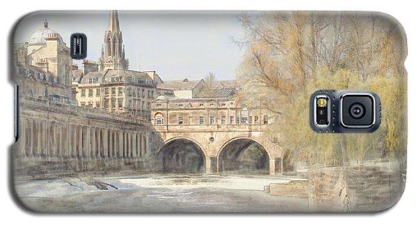 Galaxy S5 Case featuring the digital art Pulteney Bridge Bath by Ron Harpham