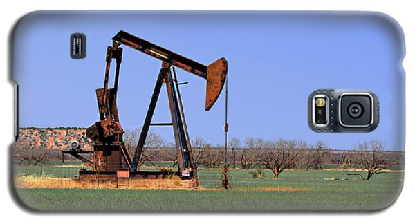 Pump Jack A Texas Icon Galaxy S5 Case by Christine Till