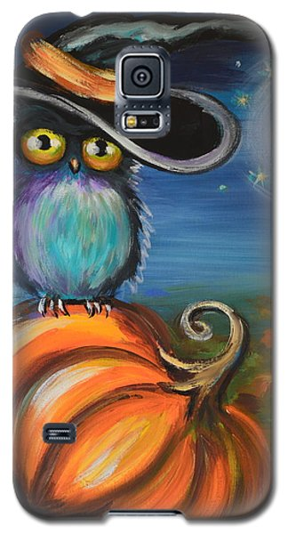 Galaxy S5 Case featuring the painting Owl Bewitch You by Agata Lindquist