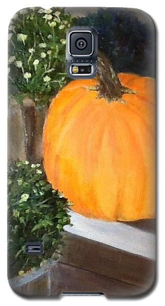 Pumpkin On Doorstep Galaxy S5 Case
