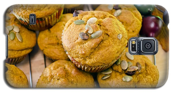 Galaxy S5 Case featuring the photograph Pumpkin Spice Muffins For Fall by Maria Janicki