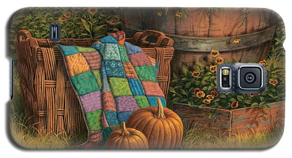 Galaxy S5 Case featuring the painting Pumpkins And Patches by Michael Humphries
