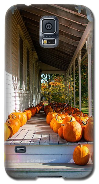 Pumpkins On A Porch Galaxy S5 Case by Karen Stephenson