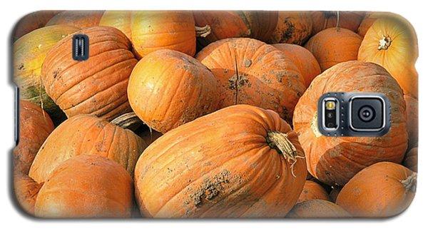 Galaxy S5 Case featuring the digital art Pumpkins by Ron Harpham