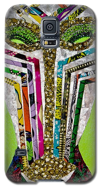 Galaxy S5 Case featuring the tapestry - textile Punda Milia by Apanaki Temitayo M