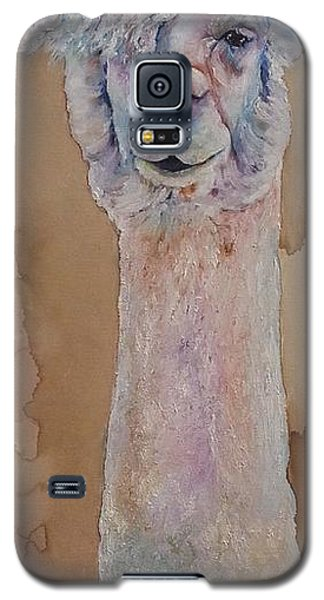 Galaxy S5 Case featuring the painting Punk Rock Alpaca by Christy  Freeman