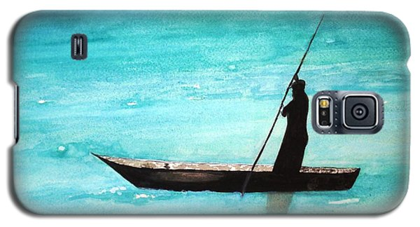 Galaxy S5 Case featuring the painting Punt Zanzibar Boat by June Holwell