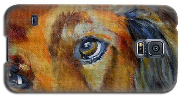 Galaxy S5 Case featuring the painting Puppy Dog Eyes by Chris Brandley