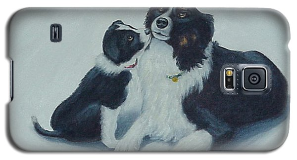 Galaxy S5 Case featuring the painting Puppy Kisses by Fran Brooks