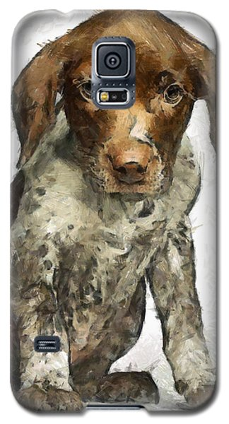 Galaxy S5 Case featuring the painting Pupy by Georgi Dimitrov