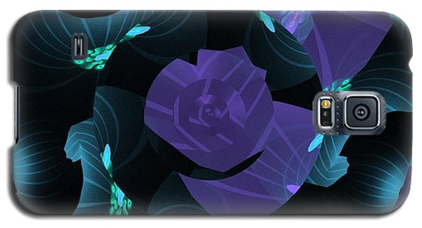 Purple Abstract Galaxy S5 Case by Linda Whiteside