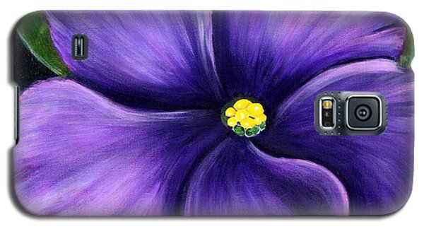 Galaxy S5 Case featuring the painting Purple African Violet by Barbara Griffin