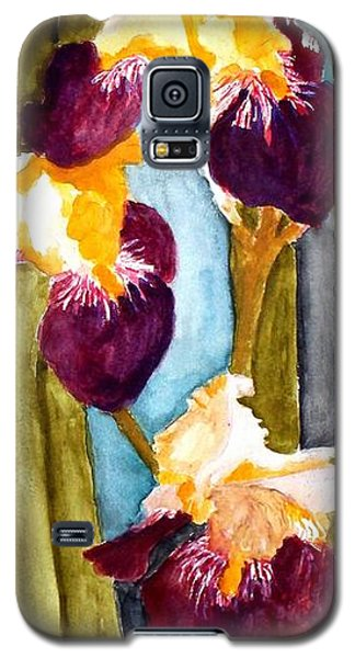 Purple And Yellow Iris Galaxy S5 Case by Carol Grimes