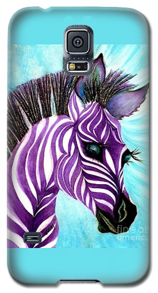 Purple Baby Zebra Galaxy S5 Case
