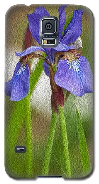 Purple Bearded Iris Oil Galaxy S5 Case